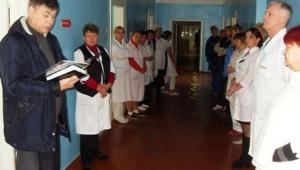 В детском отделении прошла тренировка по тушению условного пожара и эвакуации людей